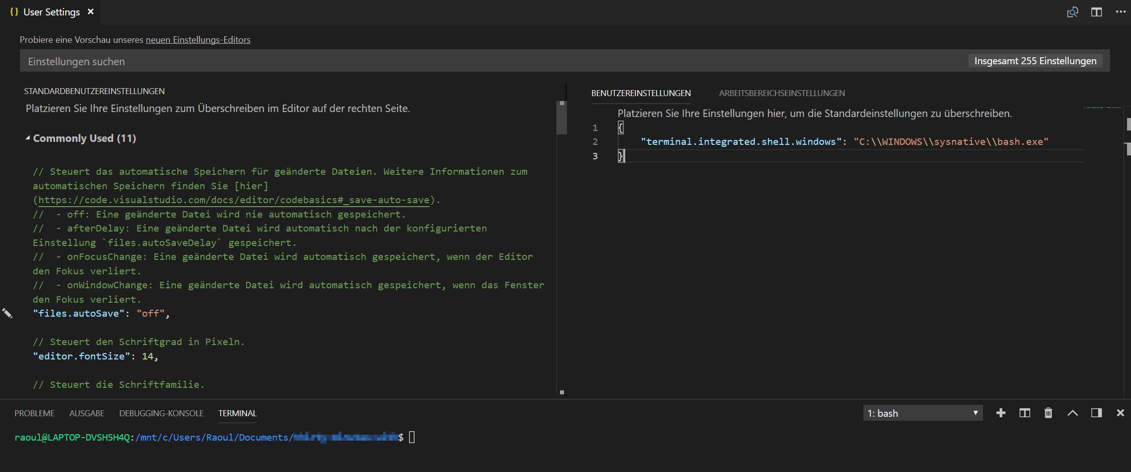 VSCode-linux-subsystem